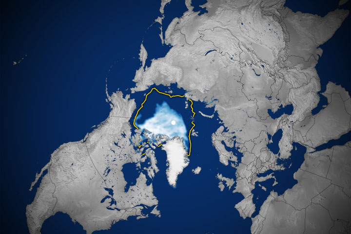 Arctic Sea Ice Reaches Second-Lowest Extent - selected image