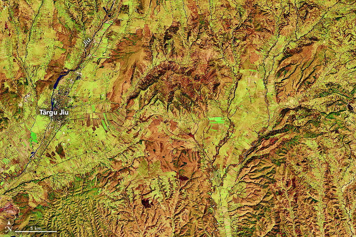 Romania's Patchwork of Farm Fields - related image preview