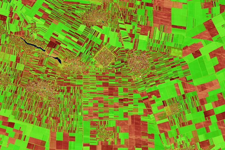 Romania's Patchwork of Farm Fields