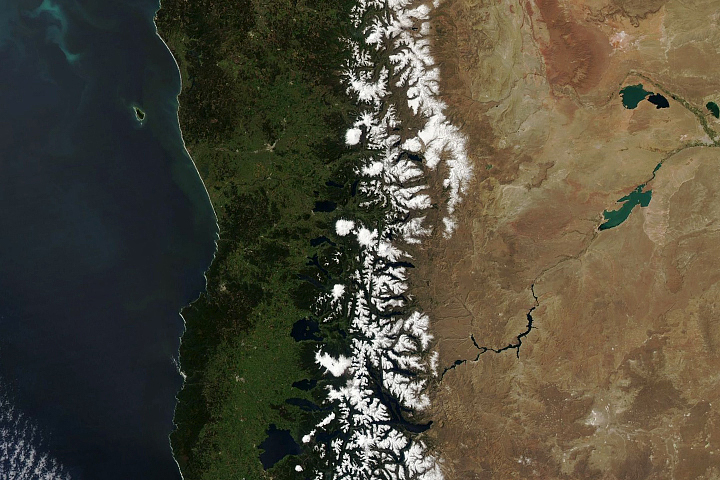 Snow Melts in the Andes