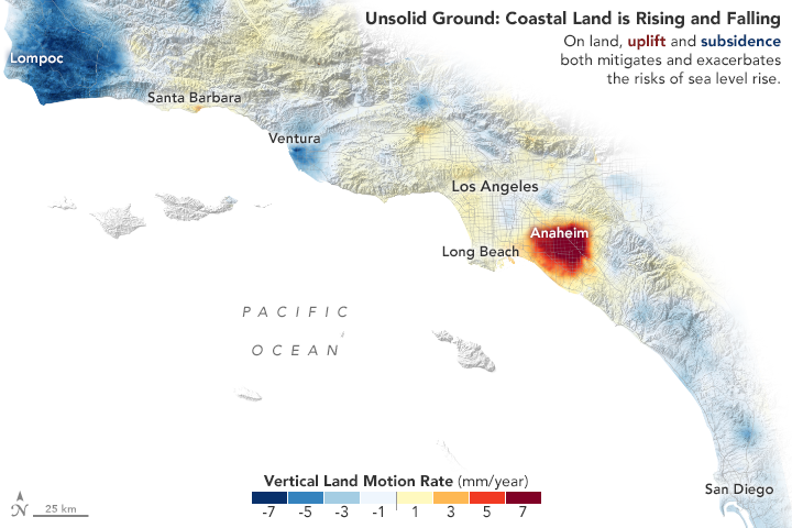 Taking a Measure of Sea Level Rise: Land Motion - related image preview