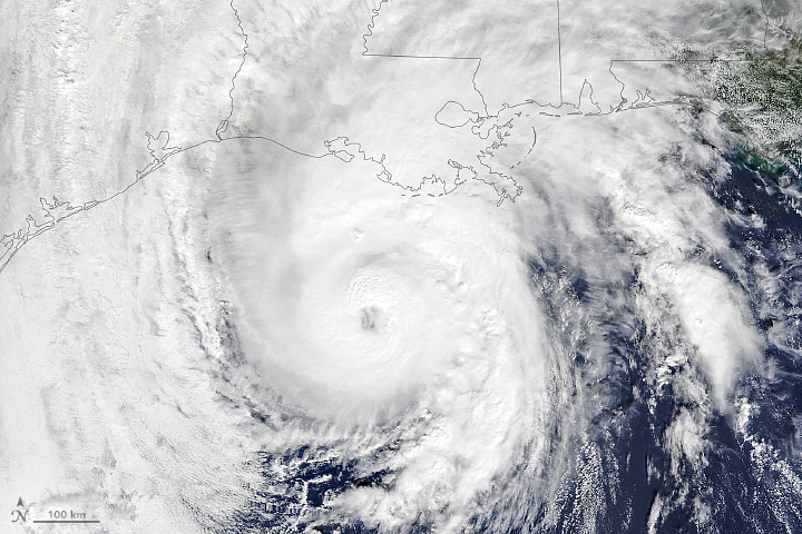 Hurricane Zeta Arrives on the Gulf Coast