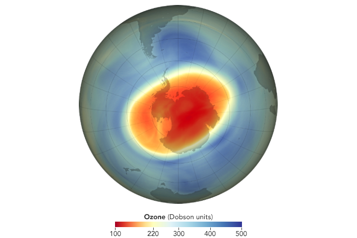 Large, Deep Antarctic Ozone Hole in 2020 - related image preview
