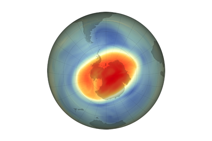 Large, Deep Antarctic Ozone Hole in 2020 - selected image