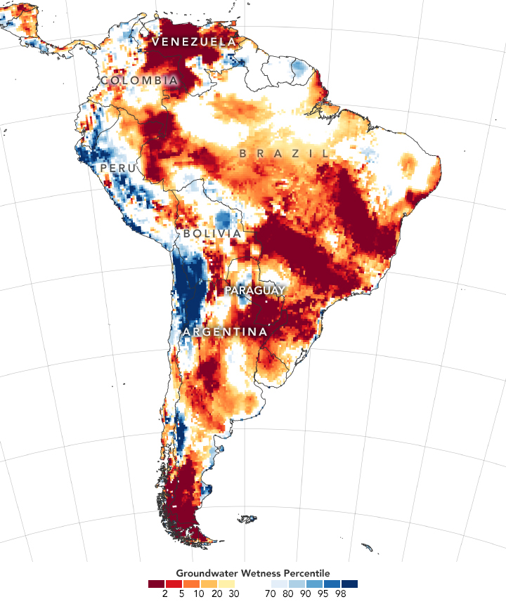 Severe Drought in South America