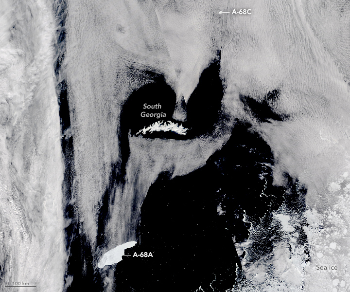Iceberg A-68A Nears South Georgia - related image preview