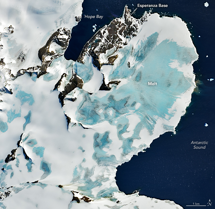 Early Melting Along the Antarctic Peninsula - related image preview