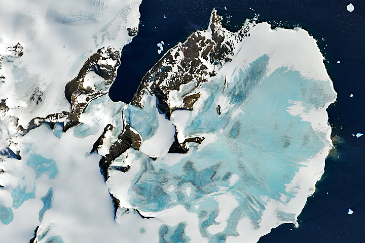 Early Melting Along the Antarctic Peninsula - selected image