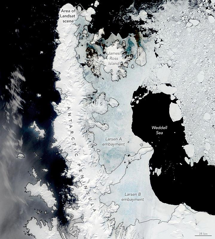 Early Melting Along the Antarctic Peninsula