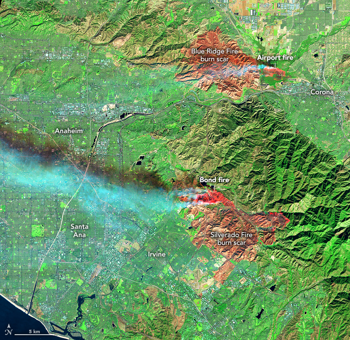 New Fires Scorch the Hills of Southern California