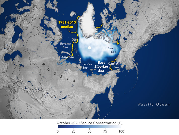 Sluggish Start for Arctic Sea Ice Freeze-Up - related image preview