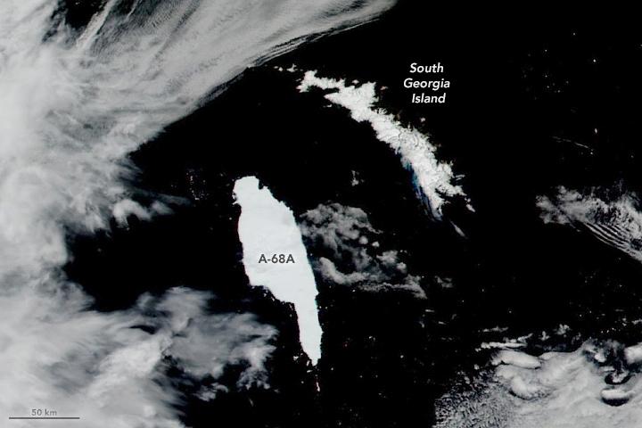 Iceberg Closes In on South Georgia