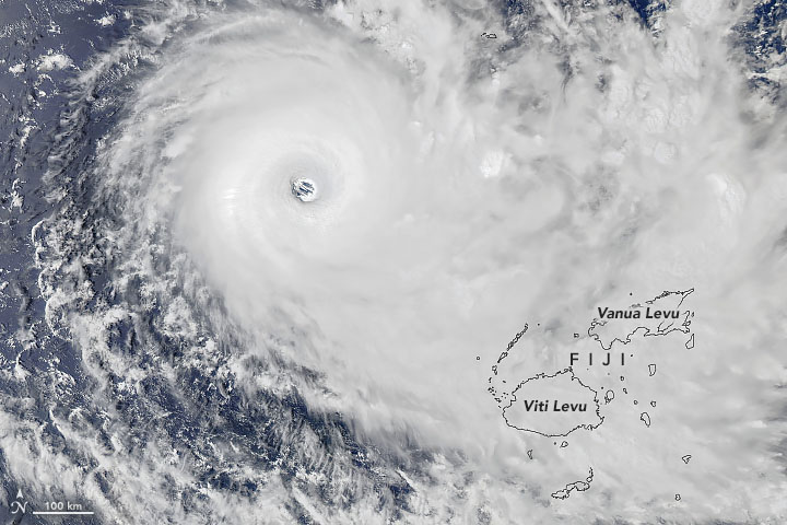 Cyclone Yasa Bearing Down on Fiji