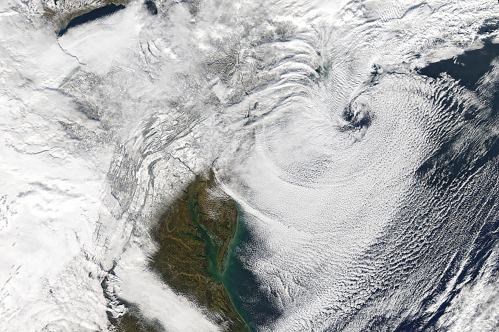Nor'easter Exits the U.S. Northeast