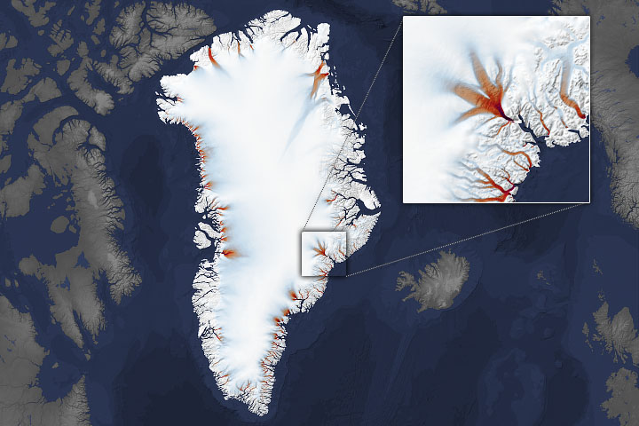 Shrinking Margins of Greenland