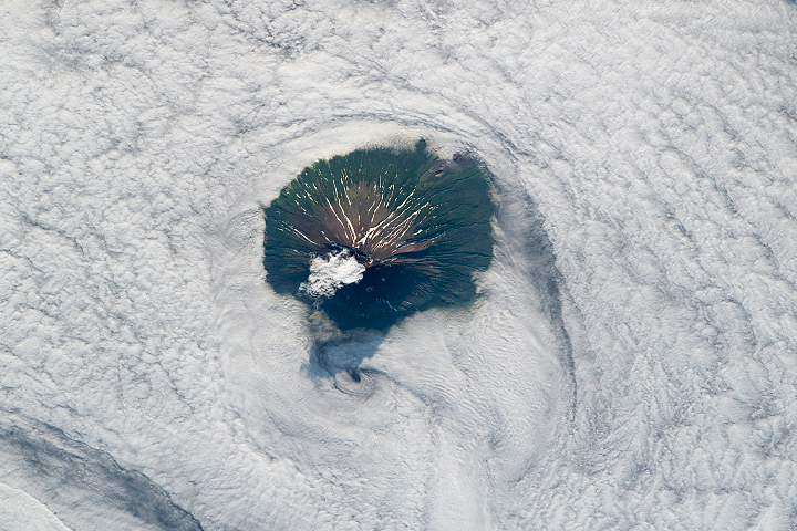 Socked in Stratovolcano - selected image