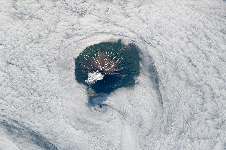 Socked in Stratovolcano