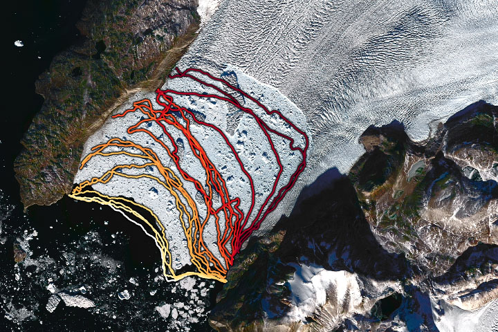 Undercutting Sverdrup Glacier - selected image