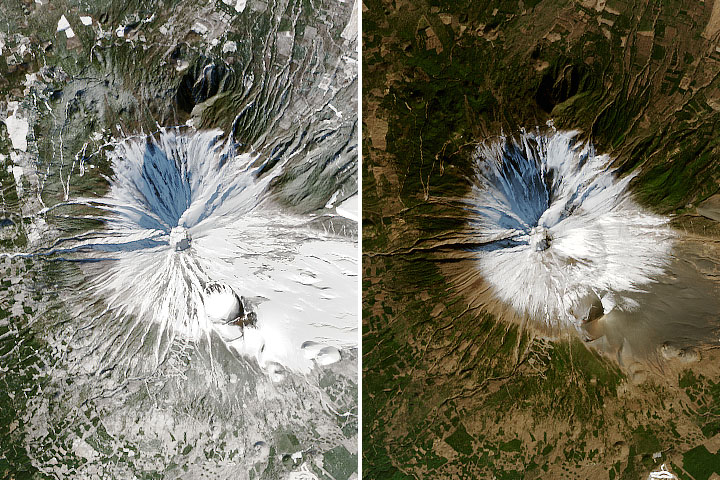 Mount Fuji's Missing Snow