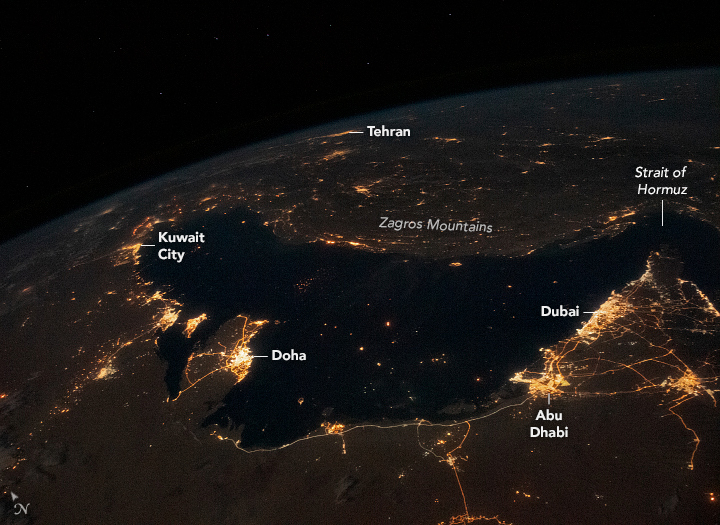 Bustling Persian Gulf at Night - related image preview