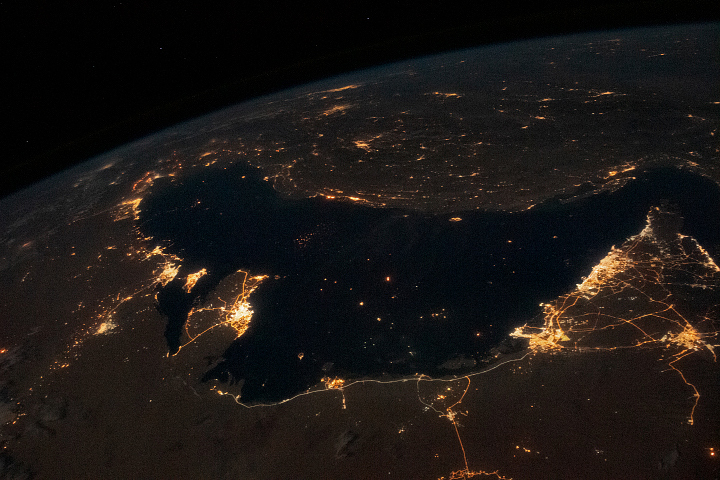 Bustling Persian Gulf at Night - selected image