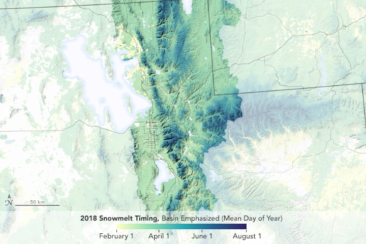 Snowmelt Timing Near the Great Salt Lake - related image preview