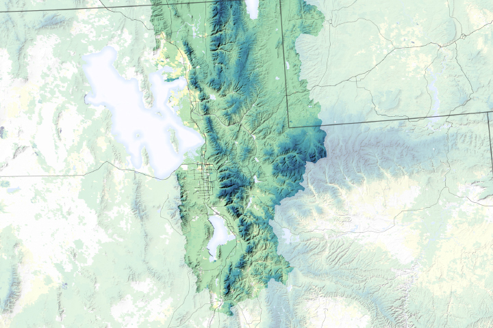 Snowmelt Timing Near the Great Salt Lake - selected image