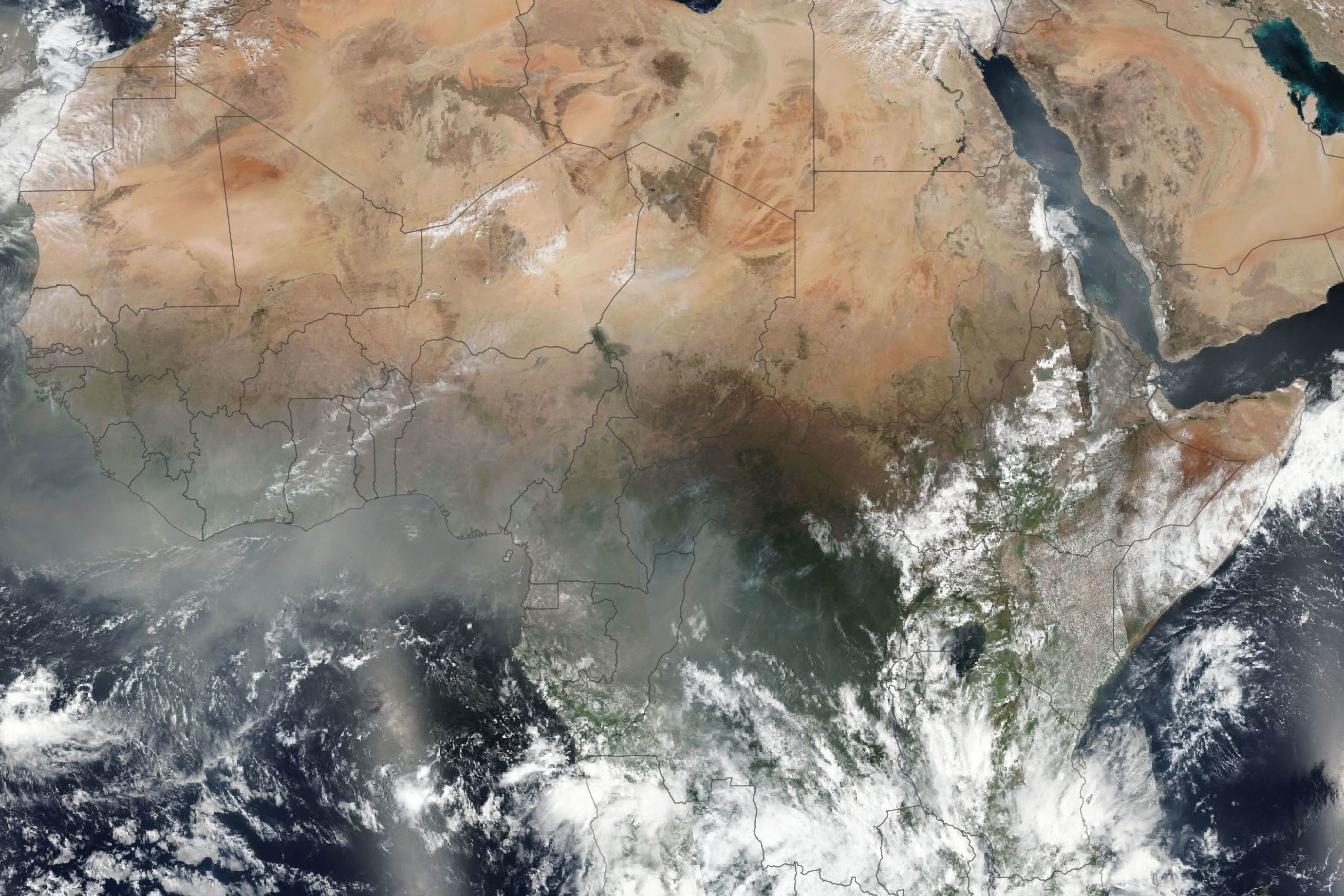 Reduced Fires Lead to Some Air Quality Improvements in Africa - related image preview