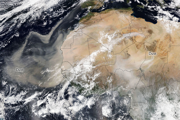 Saharan Dust Heading for Europe - related image preview