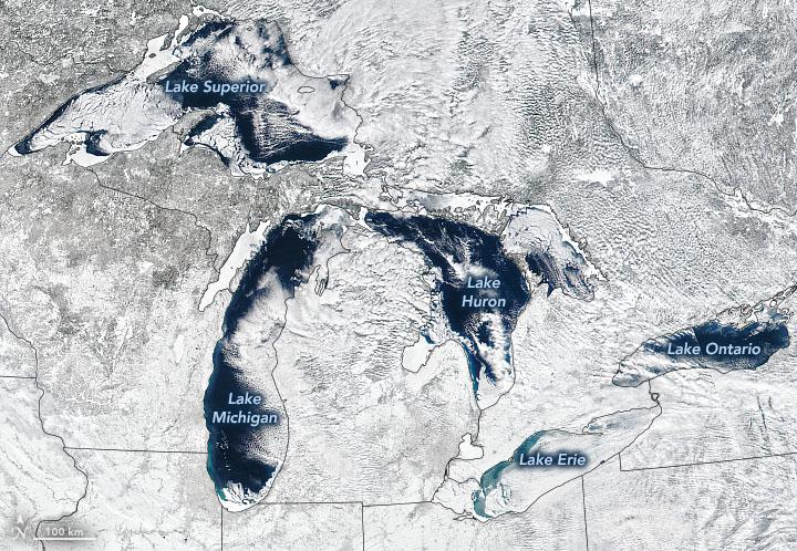Wild Swings in Great Lakes Ice