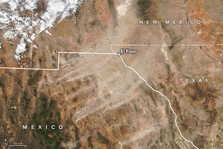 Long-lasting Dust Storm from Chihuahua - related image preview