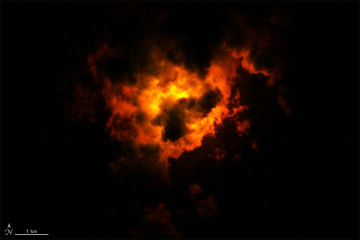 Landsat Views a Nighttime Eruption - related image preview