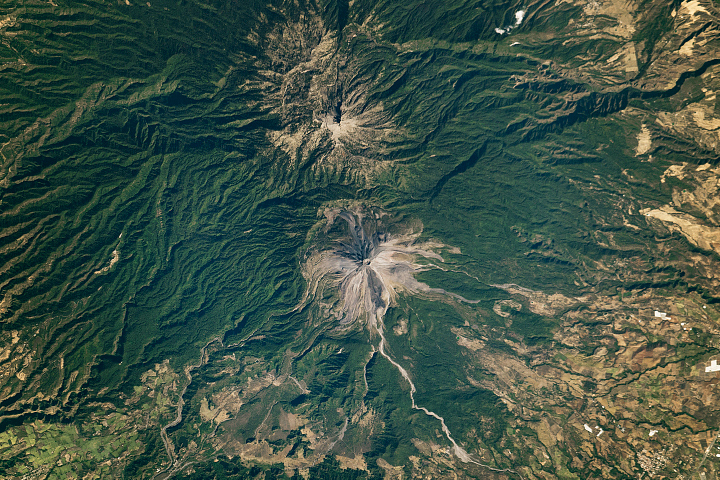 Two Volcanic Peaks that are Far from Twins - selected image
