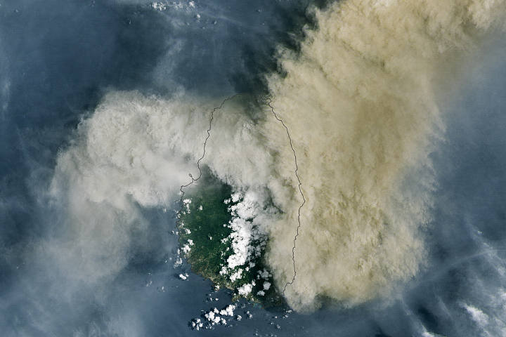 Eruption at La Soufrière