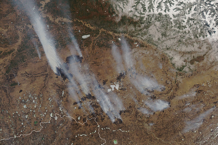 Wildfires and Smoke in Siberia - selected image