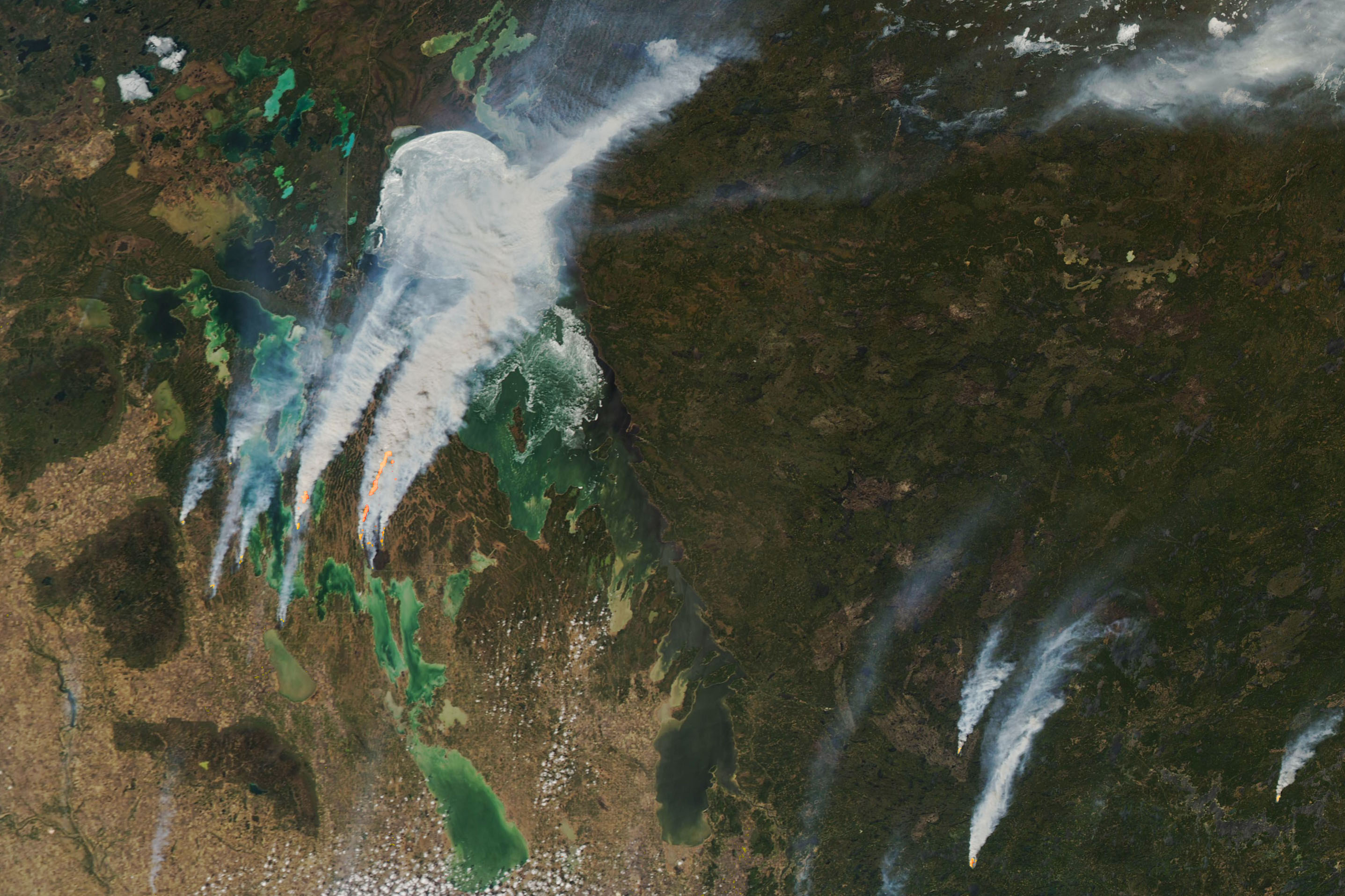 Smoke Replaces Ice at Lake Winnipeg - related image preview