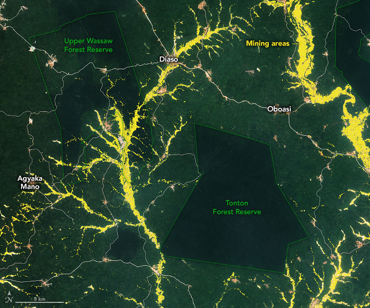 Detecting Gold Mining in Ghana - related image preview
