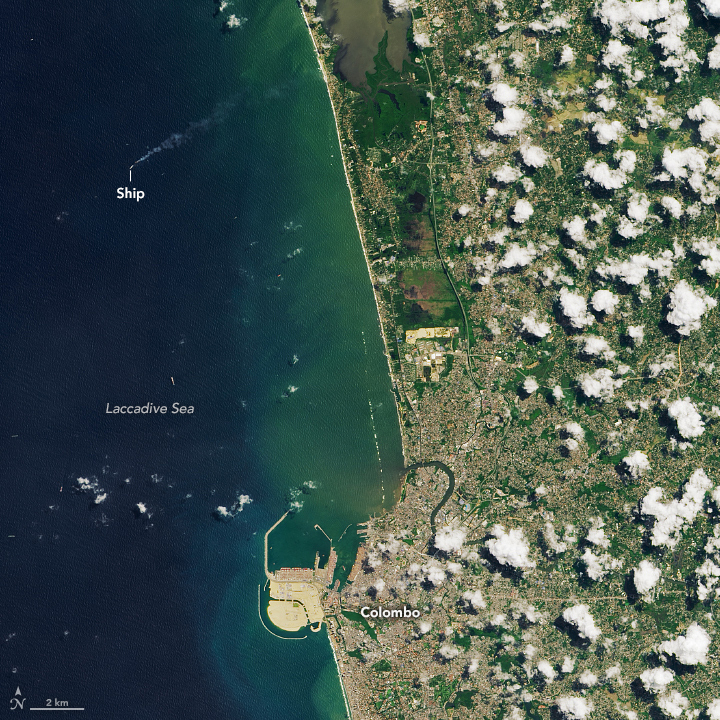 Satellite Observes Ship Fire Off Sri Lanka - related image preview