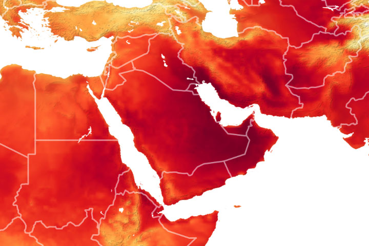 Heatwave Scorches the Middle East