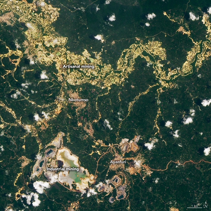 The Large Footprint of Small-Scale Mining in Ghana - related image preview