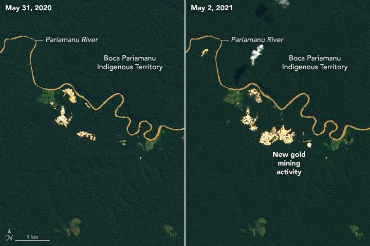 Finding Gold Mining Hotspots in Peru