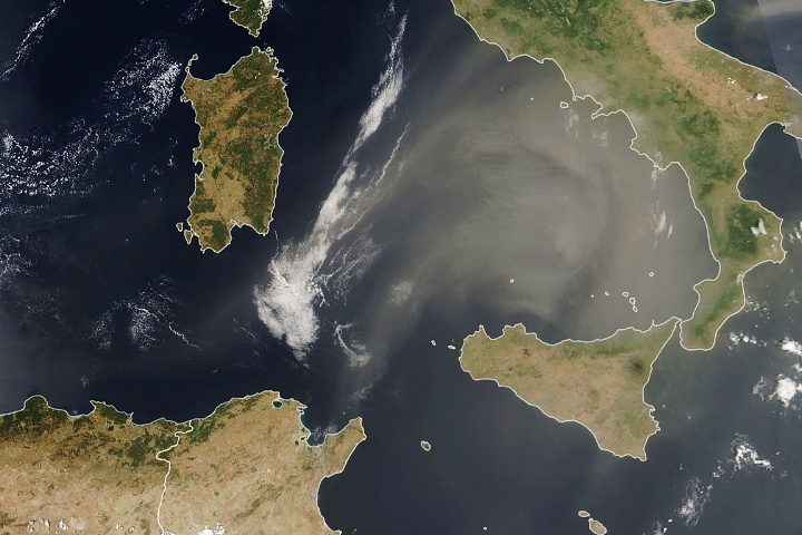 African Dust Visits Europe