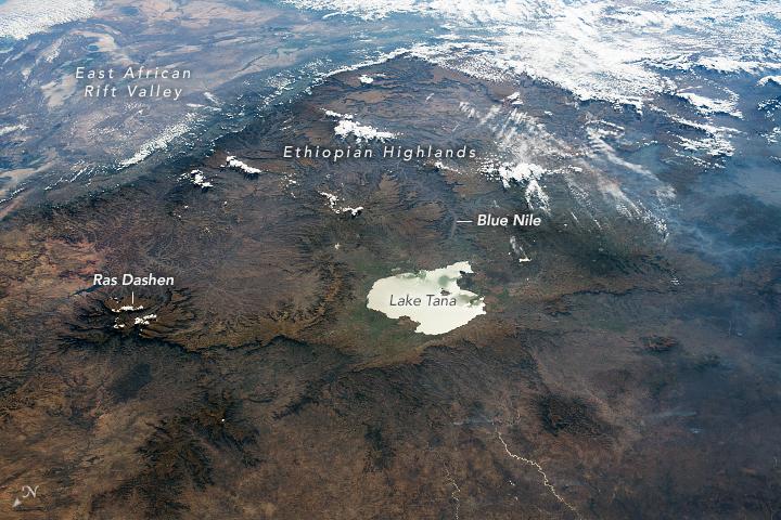 Lake Tana and the Ethiopian Highlands