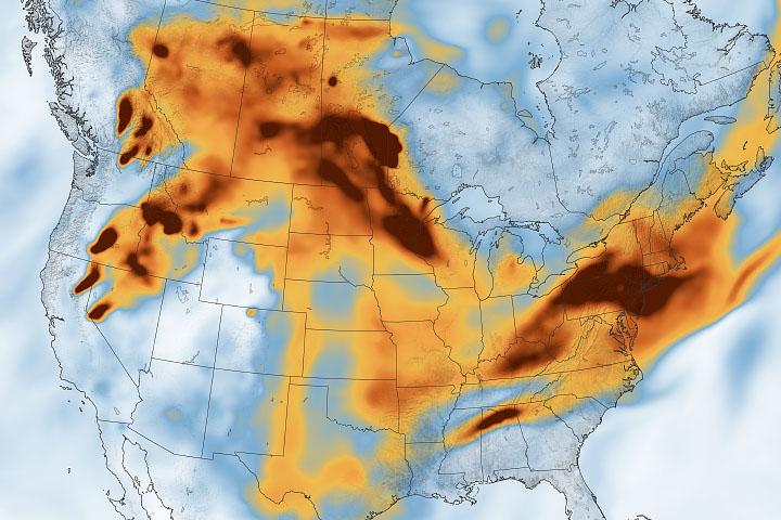 Smoke Across North America