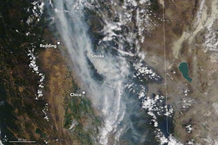 Extensive Plumes from the Dixie Fire - related image preview