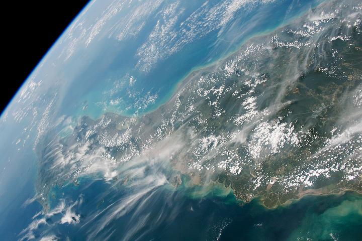 Clouds and Haze over Malay Peninsula