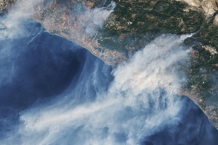 Fires Rage in Turkey