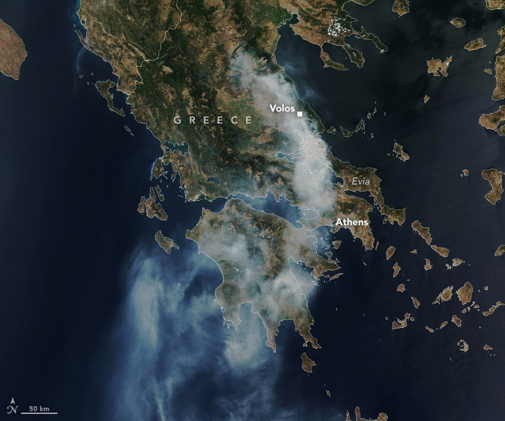Fire Consumes Large Swaths of Greece - related image preview