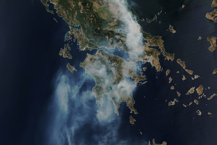 Fire Consumes Large Swaths of Greece - selected image