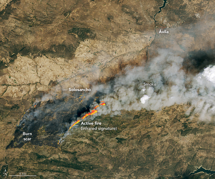 Heat and Flames Scorch Spain